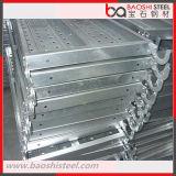 Tablón galvanizado calidad primera de la prolongación del andén y del andamio
