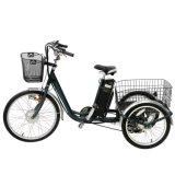 24 Rad-elektrische Ladung-grosses Dreirad des Zoll-3 mit Kabine für ältere Personen