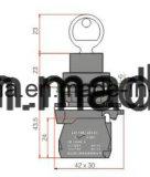 22mm de Schakelaar van de Drukknop met Sleutel