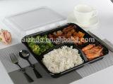 caixa de almoço plástica descartável de Bento da espessura do compartimento 1100ml 5