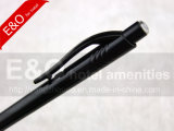 Black-Color Advertising Plastic Ball Pen para brindes promocionais