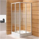 Profils En Aluminium porte de douche en verre trempé avec deux porte coulissante
