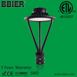 ETL UL de alta qualidade Dlc 12000LM 100watt Lâmpada Superior POST de LED com 5 anos de garantia