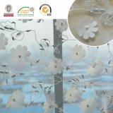 Tecido de renda branca de flor sólida C10013