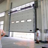 Porte automatique de garage de panneau électrique en acier d'unité centrale