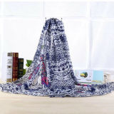 Cheap Wholesale Fashion Foulard en polyester avec Eagle Design (HWBPS039)