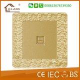 Socket del enchufe del ordenador del sentido del mosaico del oro de Champán