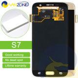 Индикация экрана LCD с агрегатом цифрователя касания для галактики S7 G930A G930t G930p G930V Samsung