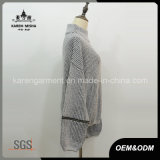 Chandail de pull de mélange de Knit texturisé par col roulé lâchement