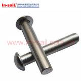 DIN124 강철 둥근 헤드는 10에서 36 mm를 리벳을 박는다
