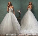 Les robes de mariée perlée Ball Tulle robes de mariage Sweetheart V6806