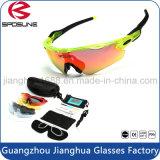 Novidades Custom Sport Sport Óculos de sol vem com dura EVA Case Vintage Ciclismo de condução Riding Sun Glasses