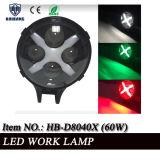 Lámparas LED de 6 pulgadas para el buceo, 4X4 Offroad Jeep redondo de color negro 60W de protección IP68 Resistente al agua vehículo automático de luz LED de trabajo