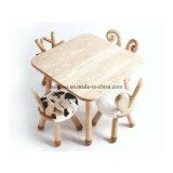 純木の子供の椅子の子供の腰掛けのウサギの腰掛け