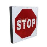 Знак стопа алюминия СИД с знаком уличного движения Поляк солнечным