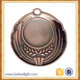 Medalla en blanco circular superior del metal del bronce de la venta 1ra, 2da o 3ro