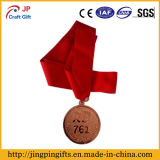 Medalha do metal da lembrança de 2017 costumes com a fita no vermelho