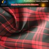 Великобританская красная/черная ткань пряжи полиэфира покрашенная, поли ткань Pongee