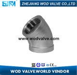 Coude d'ajustage de précision de pipe d'acier inoxydable 45 degrés