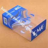 Boîte-cadeau en plastique de PVC d'espace libre d'impression de couleur de la Chine Pantone pour le module cosmétique avec le modèle se pliant