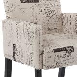 목제 다리 직물 안락 의자 Wh6060