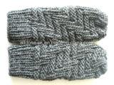 Связанные перчатки лыжи, Handmade Mittens Knit, перчатки Knit руки