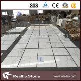 Nuove mattonelle di marmo bianche della parete di Volakas per il comitato dell'acquazzone della stanza da bagno