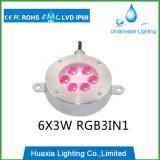 6With18W RGB 3in1 LEIDENE Licht van de Fontein met 2 Jaar van de Garantie