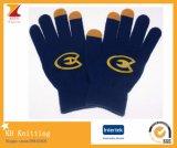 Смещенные перчатки касания логоса печати