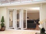 Puerta australiana de Standrad Bifolding con el polvo de la doble vidriera cubierto