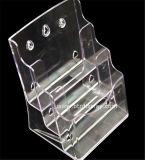 Ясное изготовление Btr-H6307-2 держателя брошюры автошин пластмассы A6 3