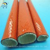Manchon en fibre de verre en silicone ignifuge auto-extinguible pour câble