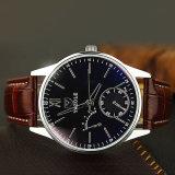314 het klassieke Horloge van de Prijs van het Horloge Yazole Goedkope voor Mensen met het Blauwe Ontwerp van het Glas