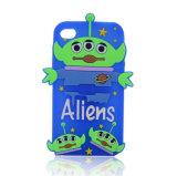 O produto novo, forma a desenhos animados românticos a caixa protetora do silicone para o iPhone 5