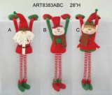 "20 "" H 자동 고사포 다리가 있는 산타클로스 눈사람 크리스마스 훈장 각자 참석자 -3asst"