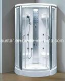 Sauna de vapor de canto 1100mm com chuveiro (AT-D8218F)
