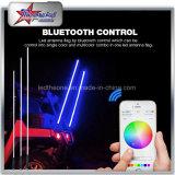 Bluetooth Control 에의한 다중 색깔 LED 채찍은 4FT 5FT 6FT 지프를 위해 8FT 우유 관을%s 가진 기관자전차를 나른다
