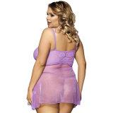 Livraison rapide Hot Sale Purple Sexy Women Plus Size Lingerie