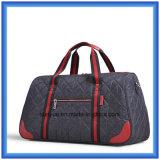 Sac imperméable à l'eau de course de couleur de contraste de promotion, sac en nylon durable de bagage de week-end