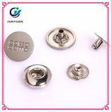 Botão de pressão de metal Pressione o botão de pressão de quatro peças