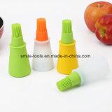 Botella a prueba de calor de Oil&Sauce del silicón que rocía el cepillo