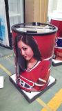 Refrigerador de barril redondo / 40L Refrigerador de festa de bebidas elétricas comerciais / Refrigerador de porta portátil ao ar livre