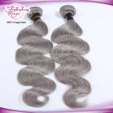 Kein falscher Geruch-Silber-Farben-Karosserien-Welle brasilianisches graues Remy Haar