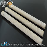 Tubo di ceramica refrattario della macchina dell'indennità della parte della termocoppia porosa di ceramica industriale del tubo