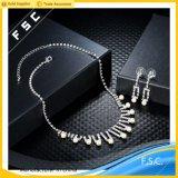 Romántico set de joyas de boda Perla de imitación de cristal para las mujeres
