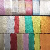 Couro artificial metálico colorido do plutônio para sacos, sapatas, decoração, mobília (HS-Y41)