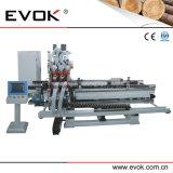 Полноавтоматическая деревянная расточка шарнира двери и Drilling машина (TC-60MS-CNC-A)