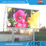 Muestra de acceso frontal fija al aire libre de la pantalla de visualización de LED de P8 SMD para el anuncio
