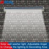 Lumière solaire sans fil de panneau-réclame de la publicité extérieure de lumière de rondelle de mur avec la FCC de la CE