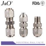ステンレス鋼の十字の器械の管継手